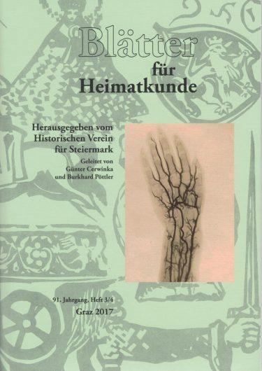 2017 3 4 blaetter 375x530 - Blätter für Heimatkunde 3/4 2017