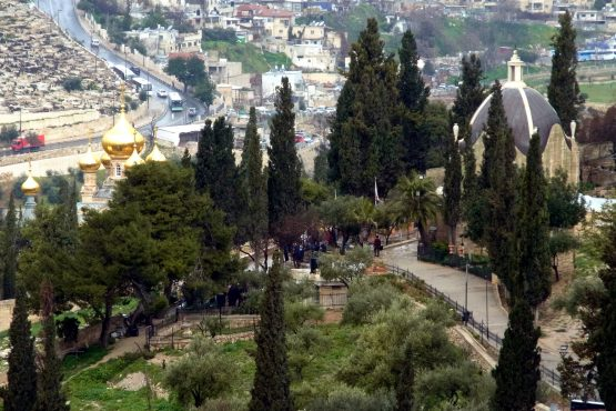44 Jerusalem Ölberg Magdalenenkirche Dominus Flevit R0021722 555x370 - Israel 2015