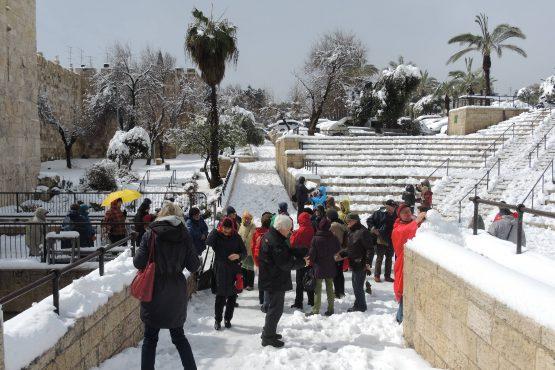 66 Jerusalemschnee Damaskus Tor SL DSCN1462 555x370 - Israel 2015