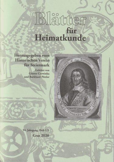 Blätter 1 2 20 375x530 - Blätter für Heimatkunde 1/2 2020