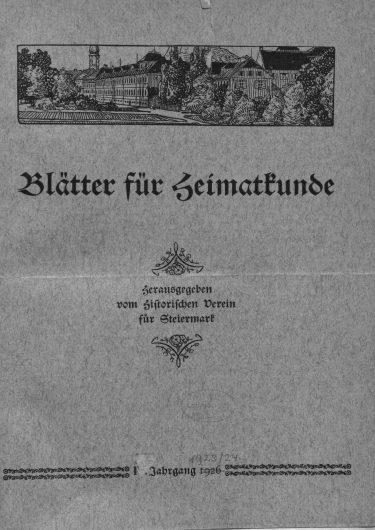 Blätter Jg1 Titelseite 375x530 - Jahrgang 1 (1923)