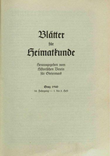 Blätter Jg18 Titelseite 375x530 - Jahrgang 18 (1940)