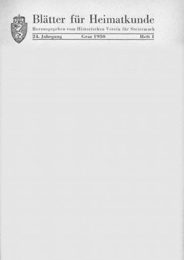 Blätter Jg24 Titelseite 375x530 - Jahrgang 24 (1950)