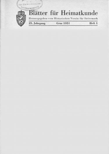 Blätter Jg25 Titelseite 375x530 - Jahrgang 25 (1951)