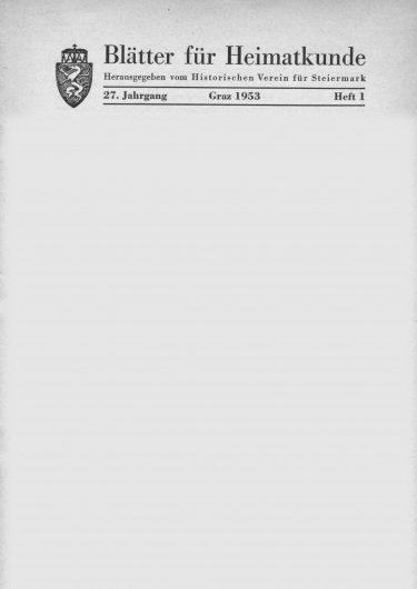 Blätter Jg27 Titelseite 375x530 - Jahrgang 27 (1953)