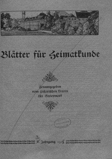 Blätter Jg3 1925 375x530 - Jahrgang 3 (1925)