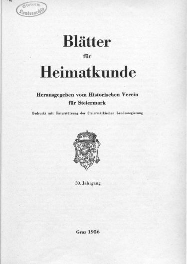 Blätter Jg30 Titelseite 375x530 - Jahrgang 30 (1956)