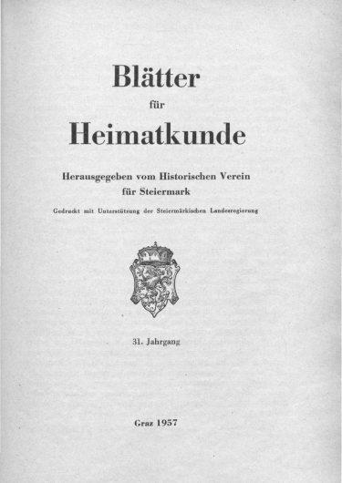 Blätter Jg31 Titelseite 375x530 - Jahrgang 31 (1957)