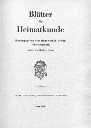 Blätter Jg37 Titelseite 375x530 - Jahrgang 37 (1963)