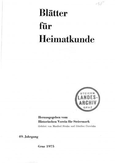 Blätter Jg49 Titelseite 375x530 - Jahrgang 49 (1975)