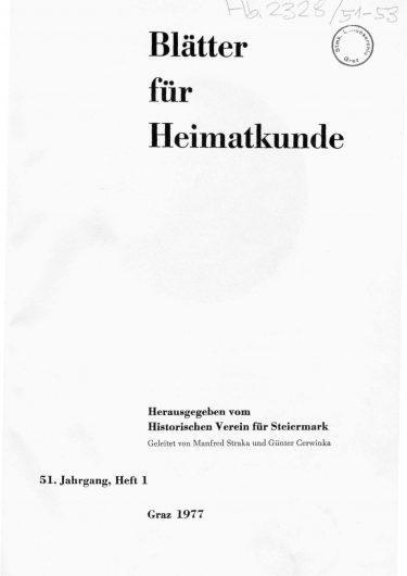 Blätter Jg51 Titelseite 375x530 - Jahrgang 51 (1977)