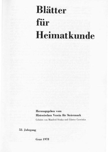 Blätter Jg52 Titelseite 375x530 - Jahrgang 52 (1978)