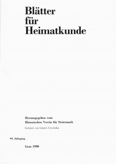 Blätter Jg64 Titelseite 375x530 - Jahrgang 64 (1990)
