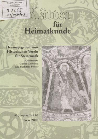 Blätter Jg83 Titelseite 375x530 - Jahrgang 83 (2009)