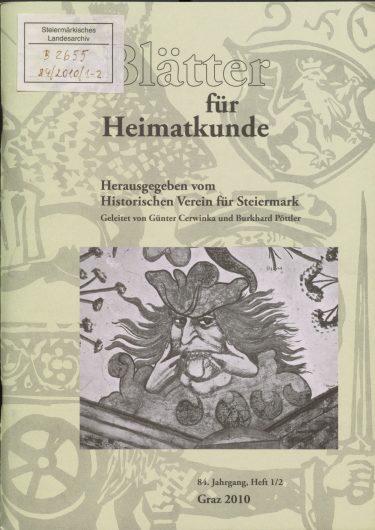 Blätter Jg84 Titelseite 375x530 - Jahrgang 84 (2010)