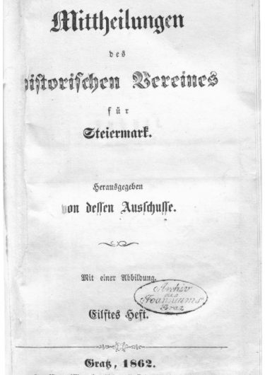 Mittheilungen Heft 11 Titelseite 375x530 - 11. Heft (1862)