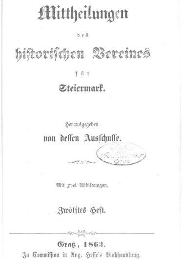 Mittheilungen Heft 12 Titelseite 375x530 - 12. Heft (1863)