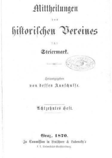 Mittheilungen Heft 18 Titelseite 375x530 - 18. Heft (1870)