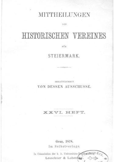 Mittheilungen Heft 26 Titelseite 375x530 - 26. Heft (1878)