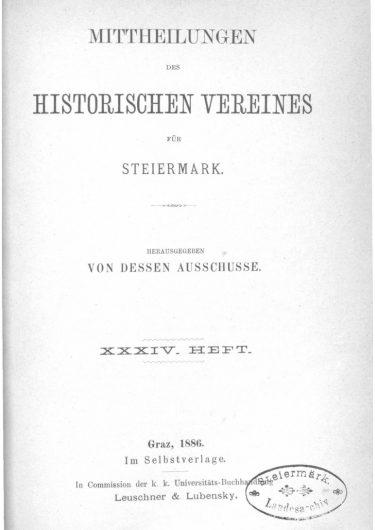 Mittheilungen Heft 34 Titelseite 375x530 - 34. Heft (1886)