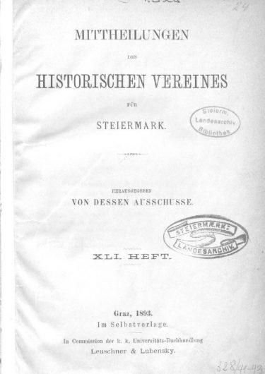 Mittheilungen Heft 41 Titelseite 375x530 - 41. Heft (1893)