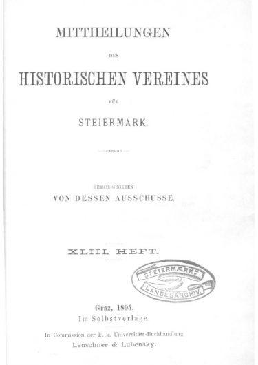 Mittheilungen Heft 43 Titelseite 375x530 - 43. Heft (1895)