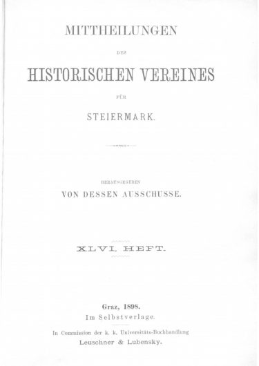 Mittheilungen Heft 46 Titelseite 375x530 - 46. Heft (1898)