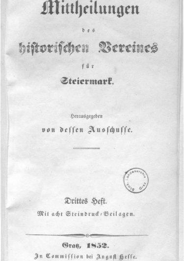 Mittheilungen Titelseite Heft 3 375x530 - 3. Heft (1852)