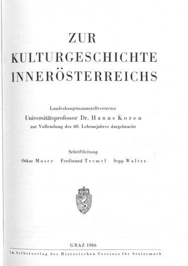 ZHVSt SB11 Titelseite 375x530 - Sonderband 11 (1966)