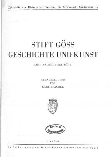 ZHVSt SB12 Titelseite 375x530 - Sonderband 12 (1966)