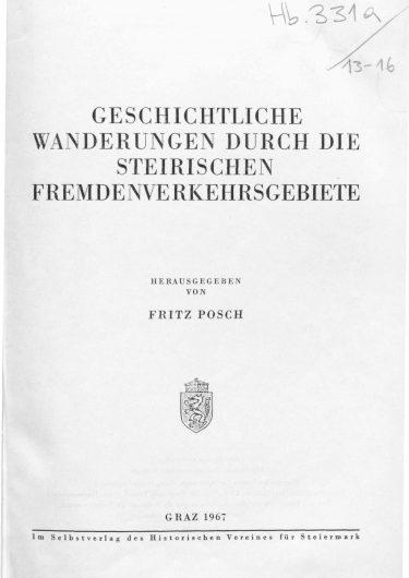ZHVSt SB13 Titelseite 375x530 - Sonderband 13 (1967)