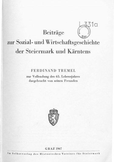 ZHVSt SB14 Titelseite 375x530 - Sonderband 14 (1967)