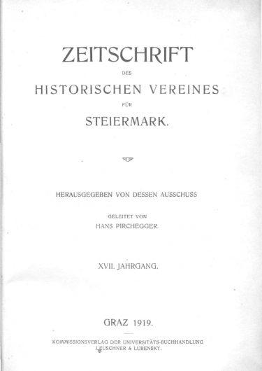Zeischrift Jg17 Titelseite 375x530 - Zeitschrift 17 (1919)