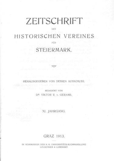 Zeitschrift Jahrgang 11 Titelseite 375x530 - Zeitschrift 11 (1913)