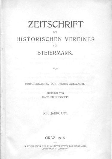 Zeitschrift Jahrgang 12 Titelseite 375x530 - Zeitschrift 12 (1914)