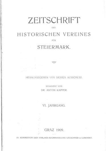 Zeitschrift Jg 6 Titelseite 375x530 - Zeitschrift 6 (1908)