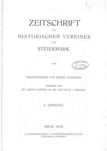 Zeitschrift Jg10 Titelblatt 375x530 - Zeitschrift 10 (1912)