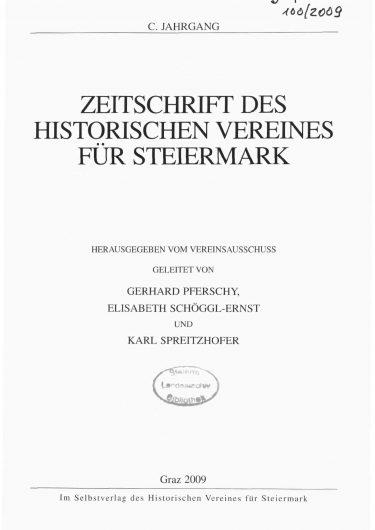 Zeitschrift Jg100 Titelseite 375x530 - Jahrgang 100 (2009)