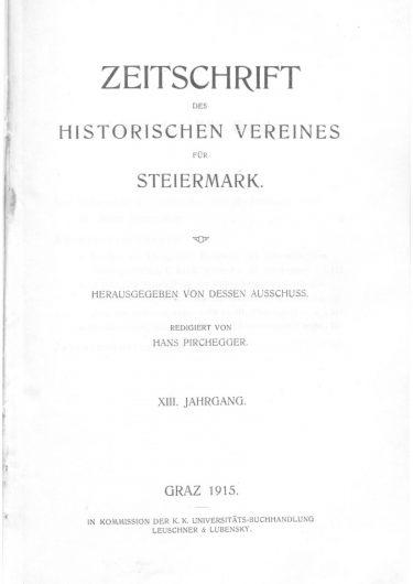 Zeitschrift Jg13 Titelseite 375x530 - Zeitschrift 13 (1915)