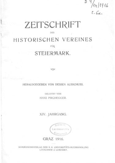 Zeitschrift Jg14 Titelseite 375x530 - Zeitschrift 14 (1916)