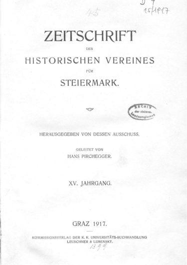 Zeitschrift Jg15 Titelseite 375x530 - Zeitschrift 15 (1917)