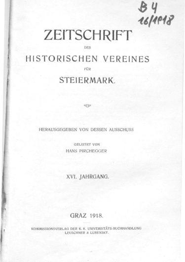 Zeitschrift Jg16 Titelseite 375x530 - Zeitschrift 16 (1918)