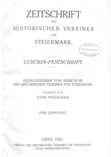 Zeitschrift Jg18 Titelseite 375x530 - Zeitschrift 18 (1922)