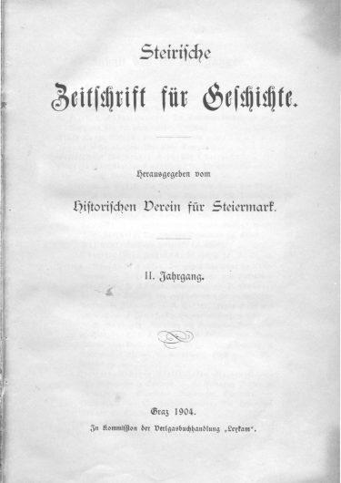 Zeitschrift Jg2 Titelseite 375x530 - Zeitschrift 2 (1904)