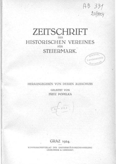 Zeitschrift Jg20 Titelseite 375x530 - Zeitschrift 20 (1924)