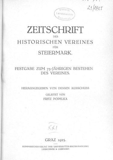 Zeitschrift Jg21 Titelseite 375x530 - Jahrgang 21 (1925)