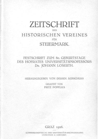 Zeitschrift Jg22 Titelseite 375x530 - Jahrgang 22 (1926)