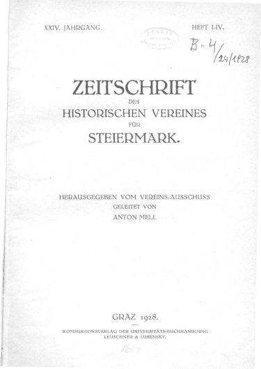 Zeitschrift Jg24 Titelseite 375x530 - Jahrgang 24 (1928)