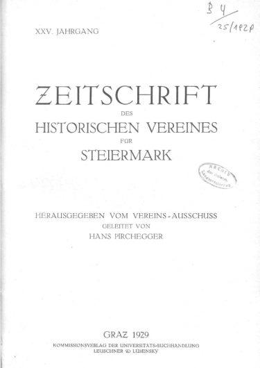 Zeitschrift Jg25 Titelseite 375x530 - Jahrgang 25 (1929)