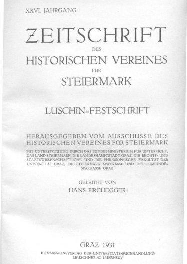 Zeitschrift Jg26 Titelblatt 375x530 - Jahrgang 26 (1931)